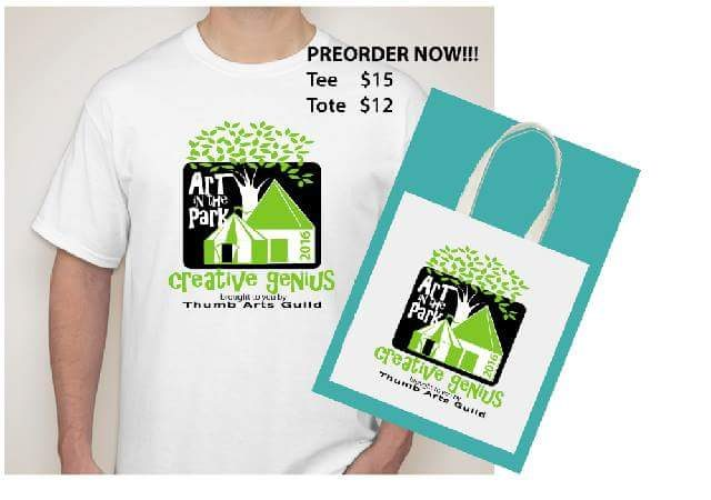 Art in the Park 2016 Tshirt or Tote